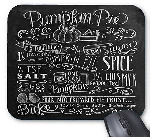 Pumpkin Pie Recipe -- Chalkboard Ideas Mouse pad 7x8.66 (After Halloween Pumpkin Recipes)