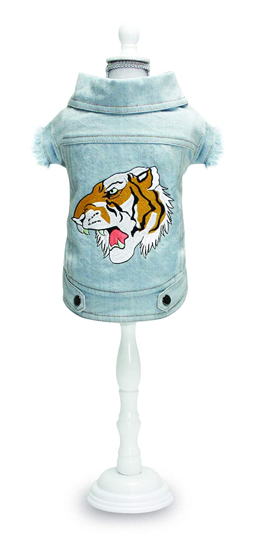 40cm Croci Denim Street Tiger Jacket, 40 cm, X-Large