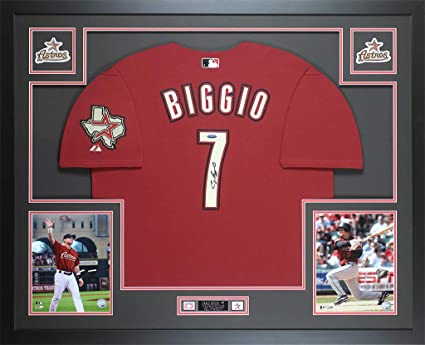 free shipping 6c7d1 9e1f7 Craig Biggio Autographed Brick Red Houston Astros Jersey ...