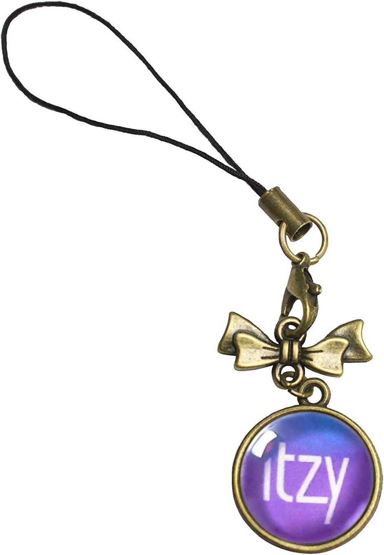 ITZY 1 Fanstown Kpop Team Logo Phone Charm gem Pendant with lomo Cards