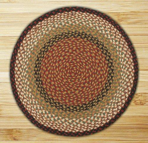 Earth Rugs 16-019 Round Area Rug, 5.75', Burgundy/Mustard