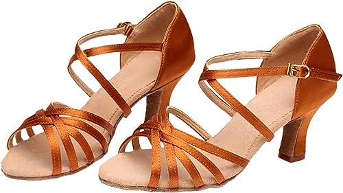 Chaussure de Danse pour Femmes Souliers /à Talons Hauts de Latine Salsa Jazz Sandales Fille Classique
