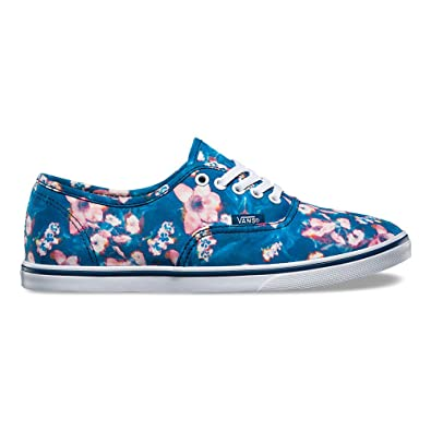 37376f9dd0 Image Unavailable. Image not available for. Color  Vans Authentic Lo Pro (Blurred  Floral) Poseidon ...