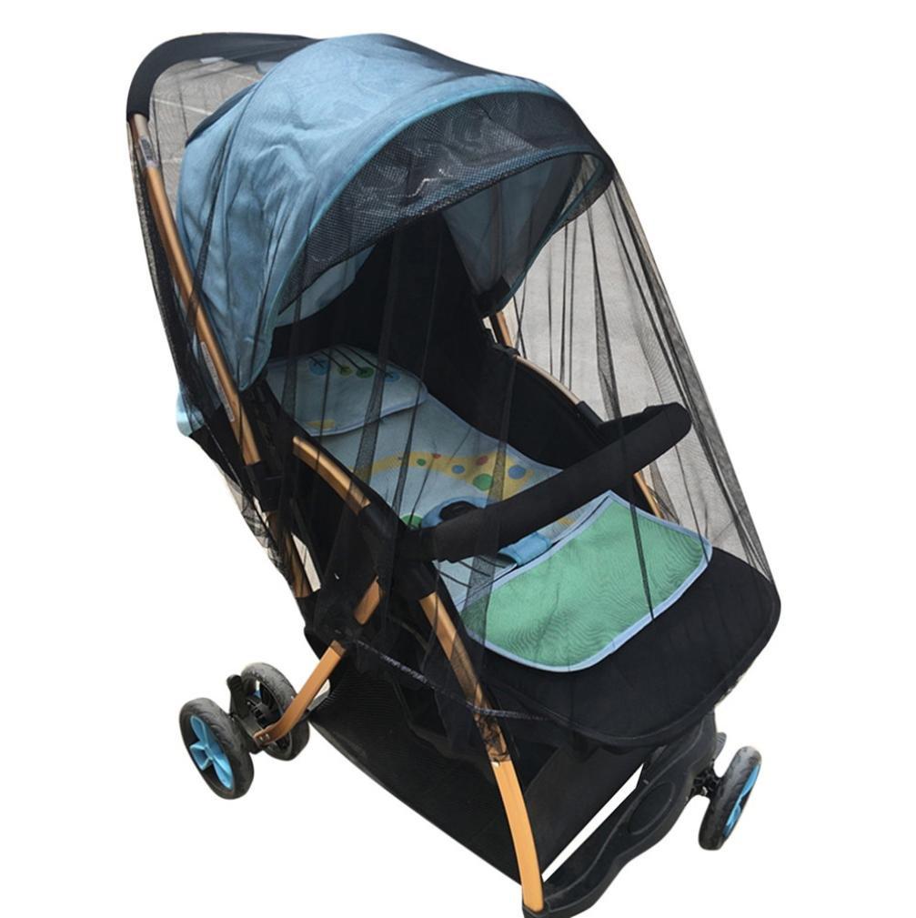 Celendi Bug Net Baby Crib Seat Mosquito Net Newborn Curtain Car Seat Insect Repellent Cover (Black)