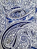 Ralph Lauren Veranda Paisley Blue Tablecloth, 60-by-104 Inch Oblong Rectangular