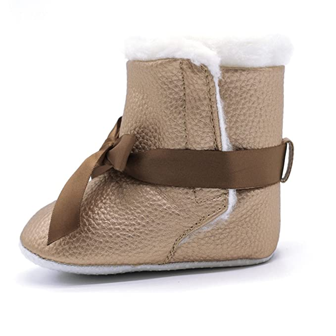 ❤ Zapatos de Invierno, Primer Paso para los niños, Botines de Bowknot Suaves para bebés niña Botas de Nieve para niños pequeños Calentadores de Cuna ...