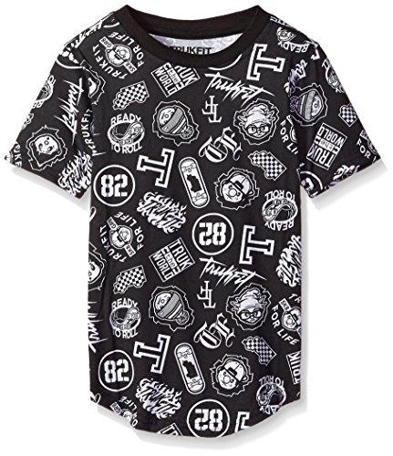 TRUKFIT Little Boys' Short Sleeve All Over Print Truk '82 Tee, Black, - Lil Style Wayne