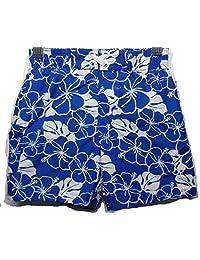 OP Blue & White Hawaiian Floral Design Swim Trunks Size 18 Months