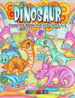 Buy Dinosaur Coloring Books For Kids Ages 4 8 Art Activity Book For Boys And Girls Featuring 50 Detailed Dinosaur Coloring Book Online At Low Prices In India Dinosaur Coloring Books For