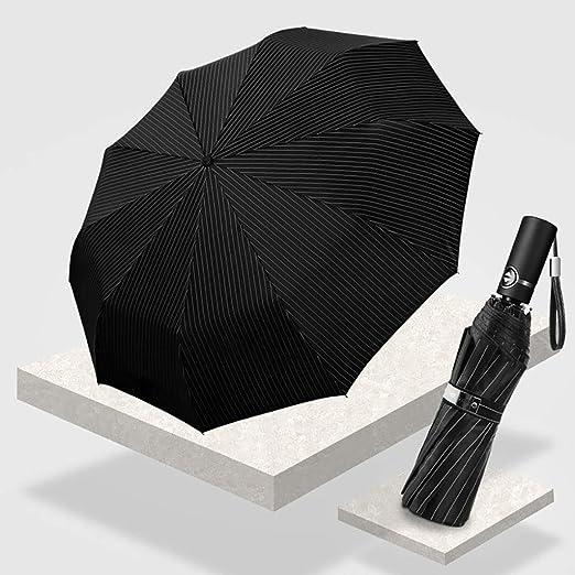 WAN Paraguas automático Abierto Cierre, Paraguas Negros para ...
