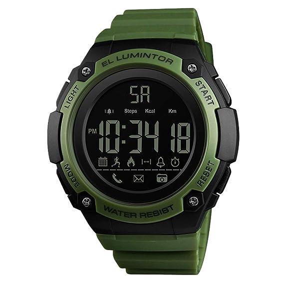 Alarma de Tiro con Bluetooth recordatorio de Llamada Digital al Aire Libre Impermeable Reloj Inteligente -