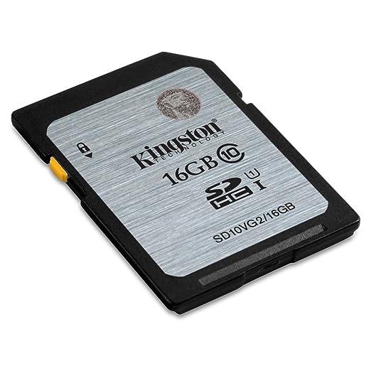 Kingston SD10VG2/16GB - Tarjeta SD UHS-I SDHC/SDXC (Clase 10-16GB ...