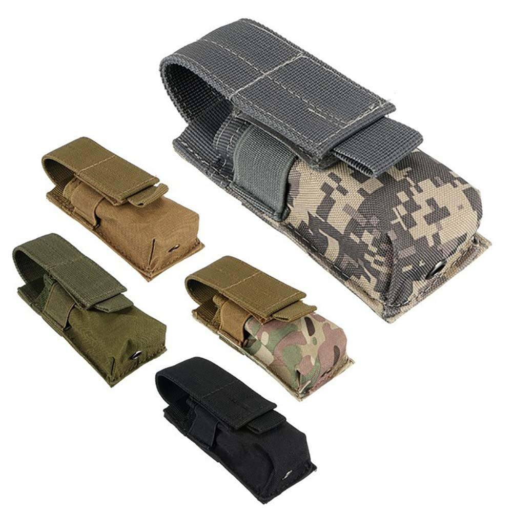 Khaki bjlongyi Portable Tactical Pouch Waist Pack Bag Military Army Outdoor Phone Pocket