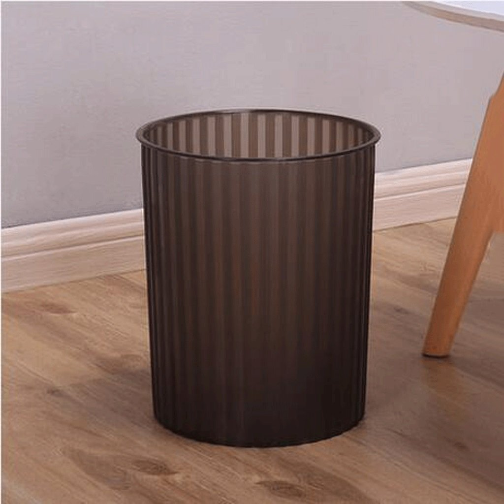 Papelera LINGZHIGAN Creative Office Living Room Trash Can Kitchen Home Bathroom Cubo de Basura de plástico (Color : Blanco)