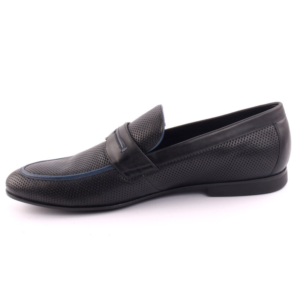 Unze Men's 'Telldin' Leather Dress Slip-ONS Formal Prom Wedding Party Office Oxfords UK Size 7-11 - A015-5-1 by Unze London (Image #3)