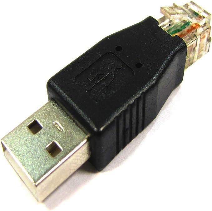 BeMatik Adaptador RJ45 a USB RJ45-M//USB-AM
