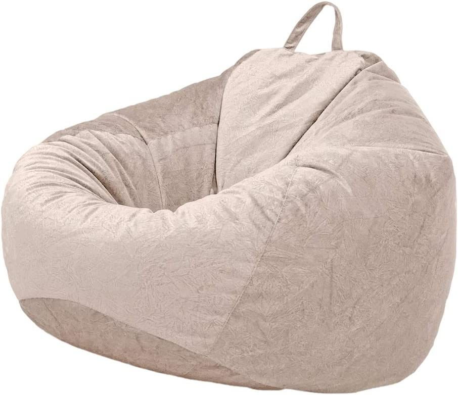 Stuffed Animal Storage Grey In//Outdoor Gamer Beanbag B Blesiya Adult//Teen Size Bean Bag Chair Cover Kids Children Sofa Covers