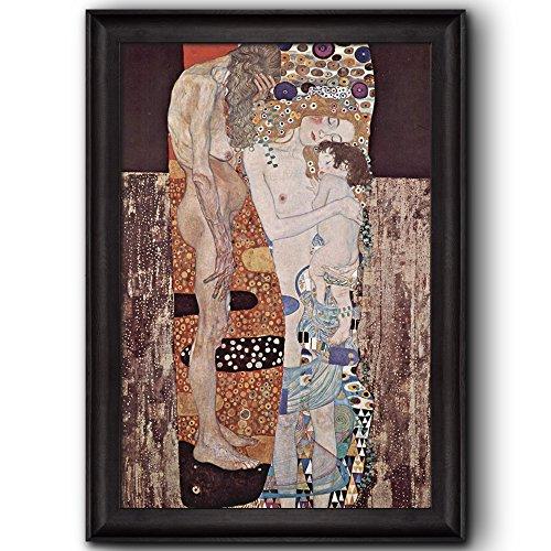 Three Ages Of Woman by Gustav Klimt Framed Art