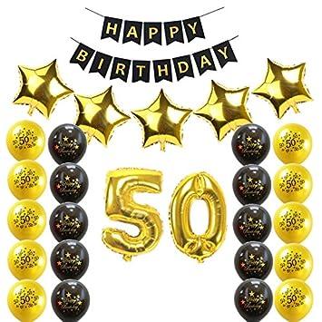 Losuya 50.º Cumpleaños Kit de Decoraciones para Fiestas ...