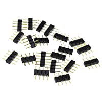 100Pcs 4 Pin 10mm LED Splitter Cable LED Strip Connector for 5050 RGB LED Light Strips Female to Male LED Connectors