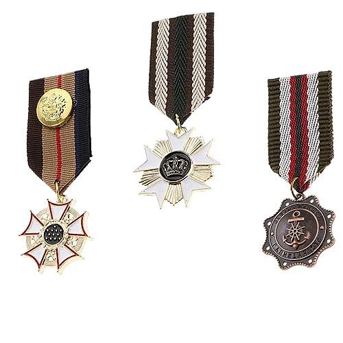 B Baosity 3X Broche Pin Insignia Medalla Geométrica Accesorios Unisex Adornos para Ropa Vestido Traje