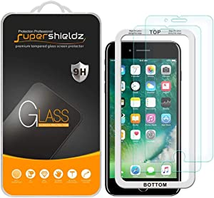 (2 Pack) Supershieldz for Apple iPhone 6S Plus and iPhone 6 Plus Tempered Glass Screen Protector with (Easy Installation Tray) 0.33mm, Anti Scratch, Bubble Free