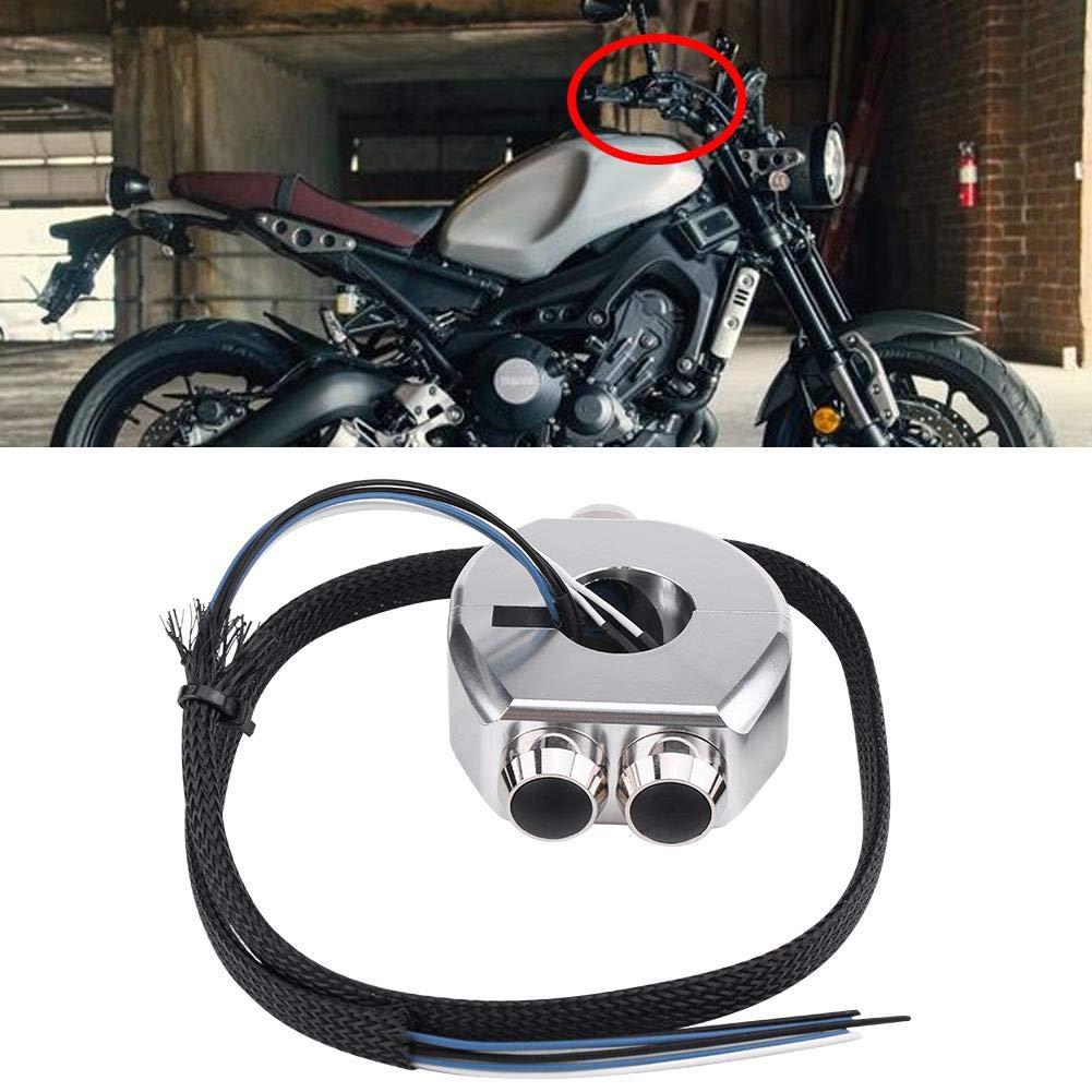 KIMISS 22mm Motorrad Lenker Momentanen Schalter Aluminiumlegierung Lenker Rastschalter Reset Taste Swarchz