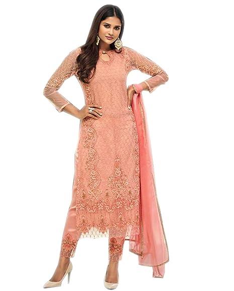 1acd986ecb Image Unavailable. Image not available for. Colour: Paridhanlok Beautiful Designer  Net Salwar Suit ...