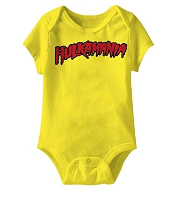 a5b6fcf28 Amazon.com  Hulkamania Hulk Hogan Logo Snapsuit Infant Baby Romper ...