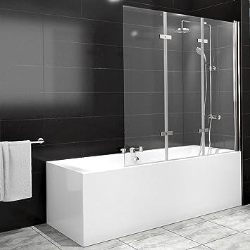 Duschabtrennung glas badewanne  Duschabtrennung Badewanne Duschwand Badewannenfaltwand Glas Dusche ...