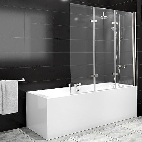 Duschabtrennung Badewanne Duschwand Badewannenfaltwand Glas Dusche ... | {Duschabtrennung glas badewanne 8}