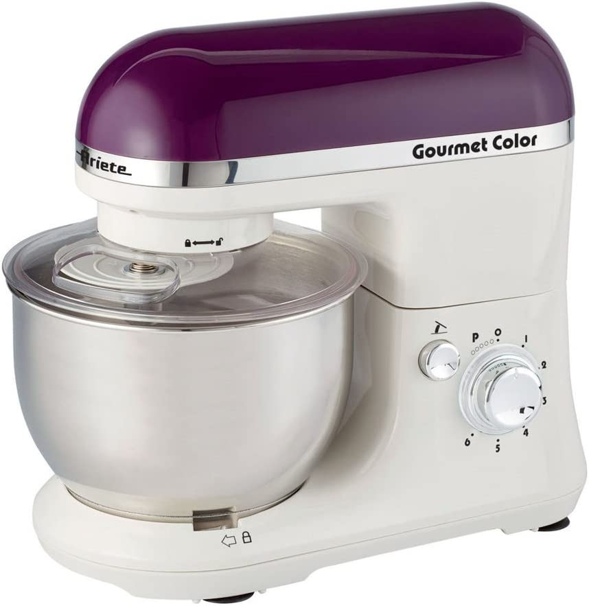 Ariete Gourmet Color 1000W 4L Púrpura, Color blanco - Robot de cocina (4 L, Púrpura, Blanco, Giratorio, Locked, Acero inoxidable, Acero inoxidable): Amazon.es: Hogar