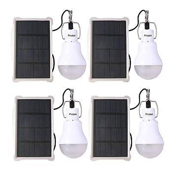 Solar Bulb Solar Panel Powered LED Light Upgrades Portable 150LM 1600mA  Battery Solar LED Lights Lamp