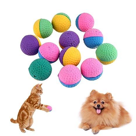 THREESS 12Pcs Juguetes Coloridos para Gatos Juguetes de ...