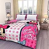 Renown Minions Cartoon Kids Design Print Reversible Single Bed AC Blanket / Dohar