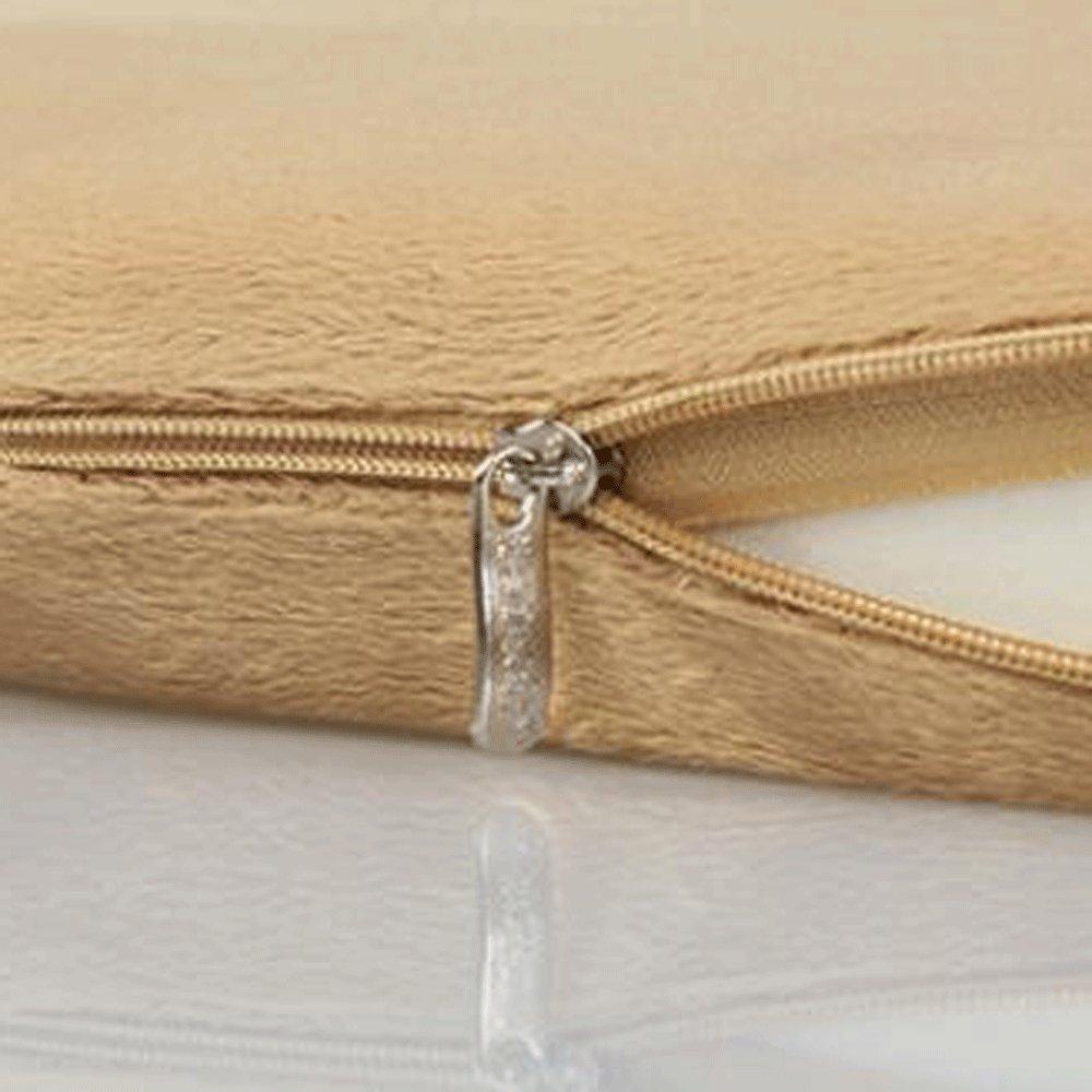 Wddwarmhome Almohadilla Gris de algodón de Memoria de Amortiguador Lento 45 Rebound tamaño: 42  45 Lento cm 673b43