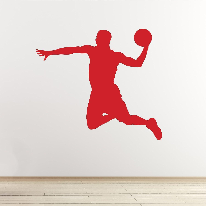 Adhesivo para pared de baloncesto - Slam Dunk reproductor Outline ...