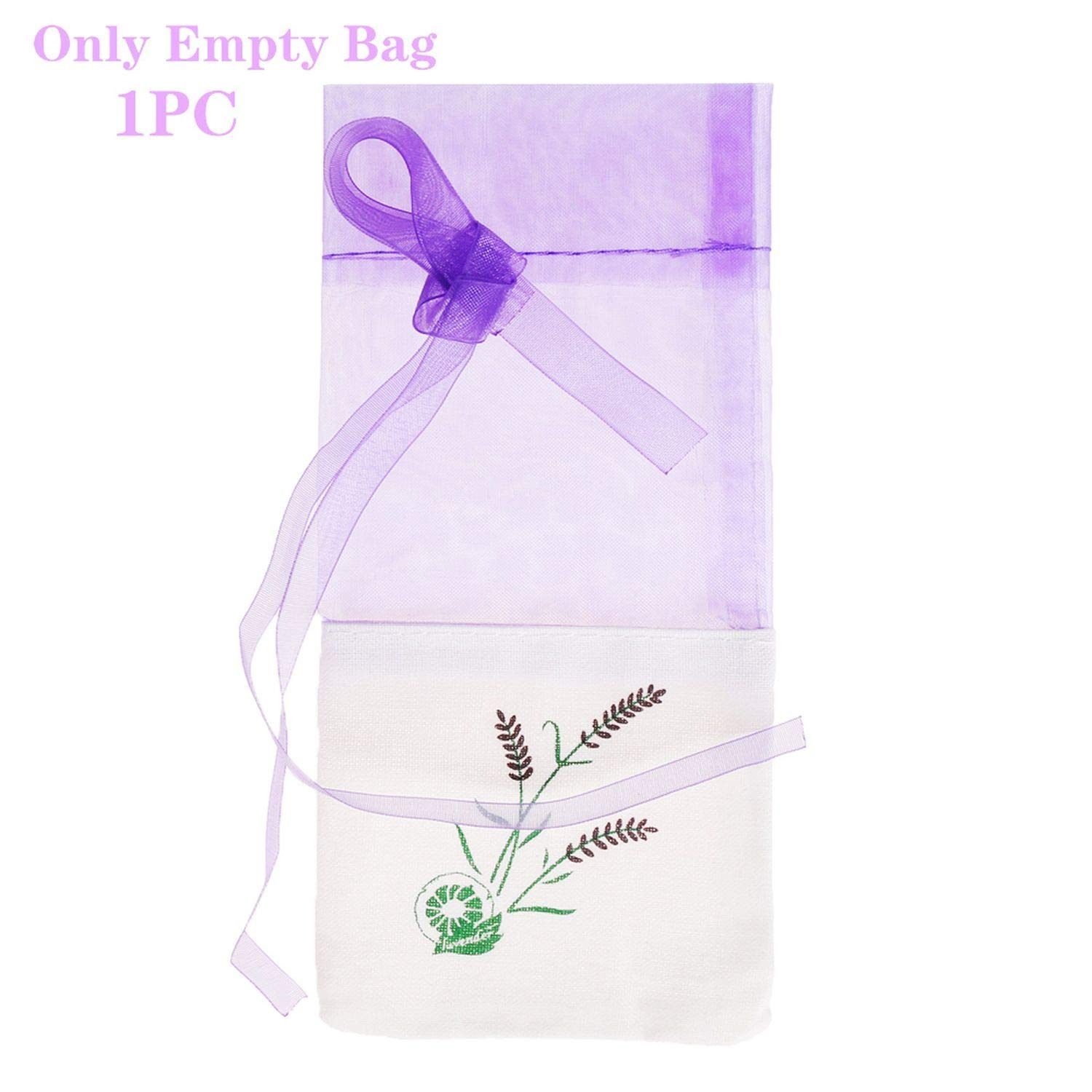NICE-SHOW Natural Lavender Bud Dried Flower Bag Aromatic Household Car Lavender Air Fresheners, 1pc(Only Empty Bag)