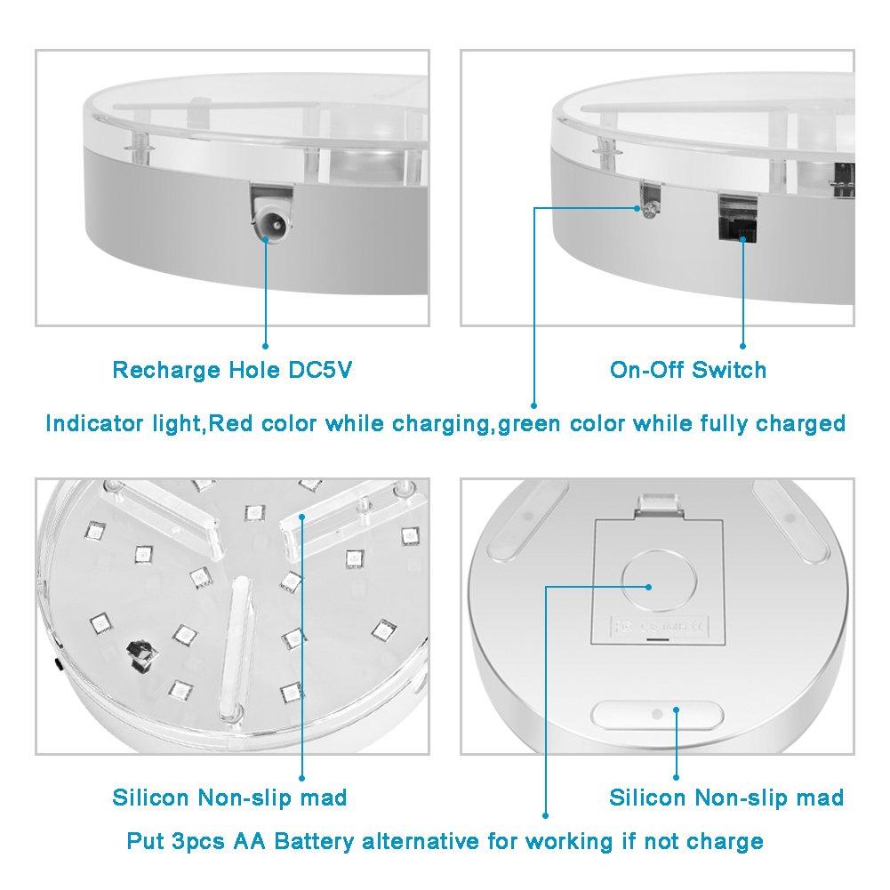 Wiederaufladbare Led UFO f/ür Wasserpfeife 20CM LyLmLe Shisha LED Untersetzer Base Lights Effekt Licht