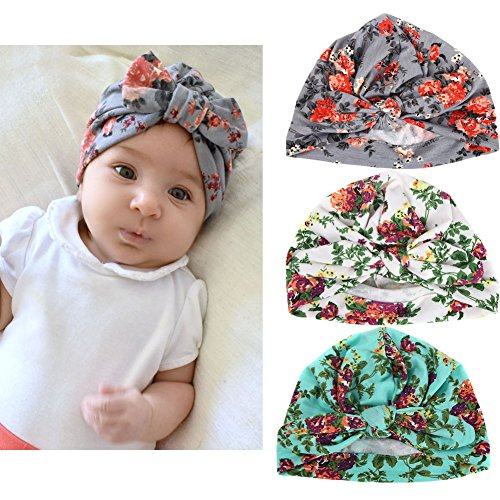 (Xinshi Baby Hat Girls Soft Turban Toddler Rabbit Ears Set Head Cap (Rabbit)