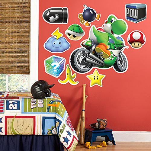 o Kart Wii Room Decor - Yoshi Giant Wall Decal ()