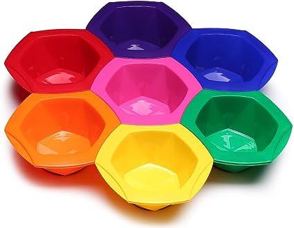 Cuencos para Mezclar Tinte de Pelo de Diferentes Colores– Juego de 7 Cuencos con Colores Diferentes