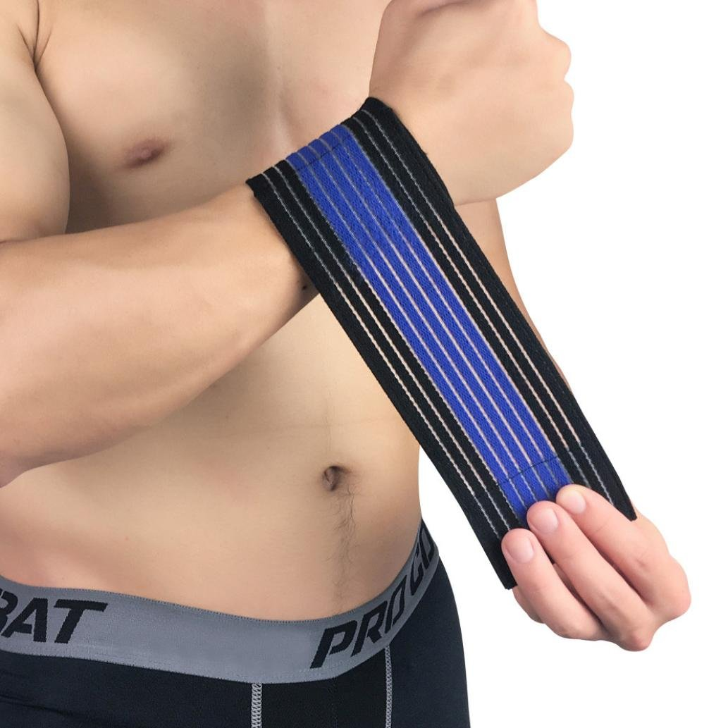 UMFun Multifunction Wrapped Wrist Elastic Bandage Guard Band Brace Sprains Strain Strap Wrist Protector Pain Relief (Dark Blue) by UMFun_Sports (Image #1)