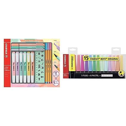 Evidenziatore Colori assortiti 8 pezzi STABILO BOSS ORIGINAL Pastel