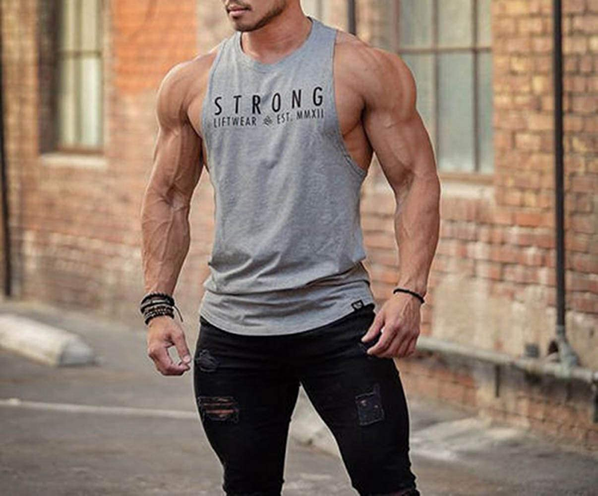 Herren Gym-Weste Fitness Tank Top Muskel Fit Ärmelloses T-Shirt Sport Freizeit