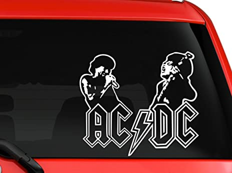 Ac dc rock band angus young brian johnson australia nice silhouette artwork car truck laptop macbook
