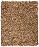 Safavieh Leather Shag Collection LSG601E Hand-Knotted Light Gold Decorative Area Rug (6' x 9')