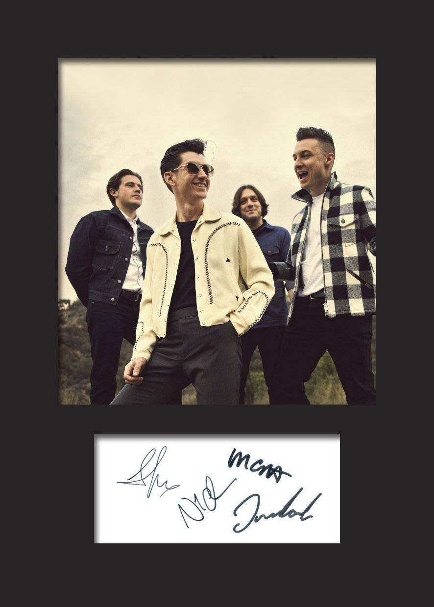 Present Gift Collectible Artic Monkeys #2 A5 Size to Fit 6x8 Inch Frames Signed Mounted Photo Reprint Machine Cut Photo Display