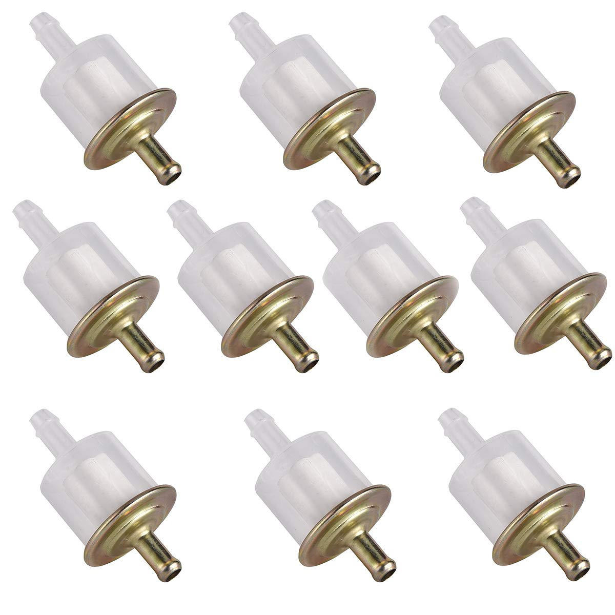 Fuel Filter Universal Motorcycle Dirtbike ATV Moped Scooters Pit Bike Pack of 10 10
