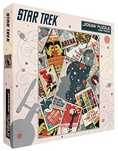 Cult Classics Jigsaw - Star Trek Collage Sci-Fi TV Television Show (Juan Ortiz retro art) 1000 Piece 20x27 Inch Jigsaw Puzzle